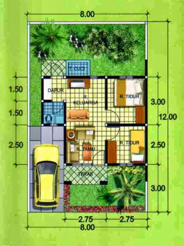 desain rumah minimalis 1 lantai 3 kamar tidur gambar
