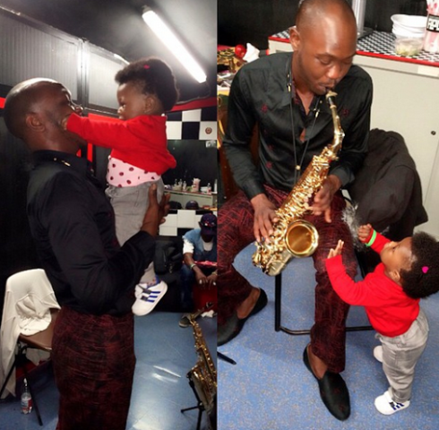 Seun Kuti Shares Some Daddy-Daughter Time With His Baby Girl – Photos