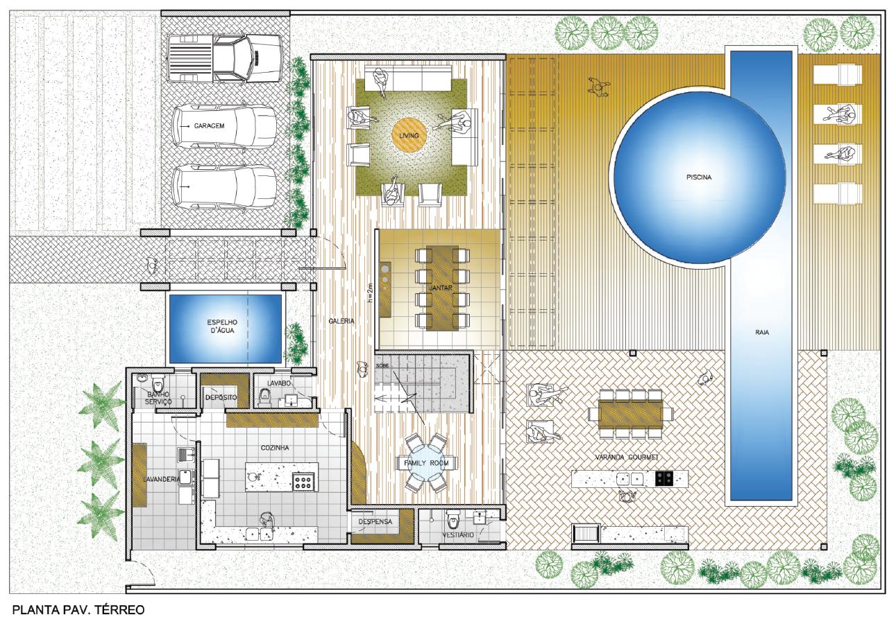 Imagens de #286BA3 AutoCAD 2013 Aula 9.8: Comando GRADIENT aplicado à profundidade de  1291x893 px 3412 Bloco Cad Banheiro Planta Baixa