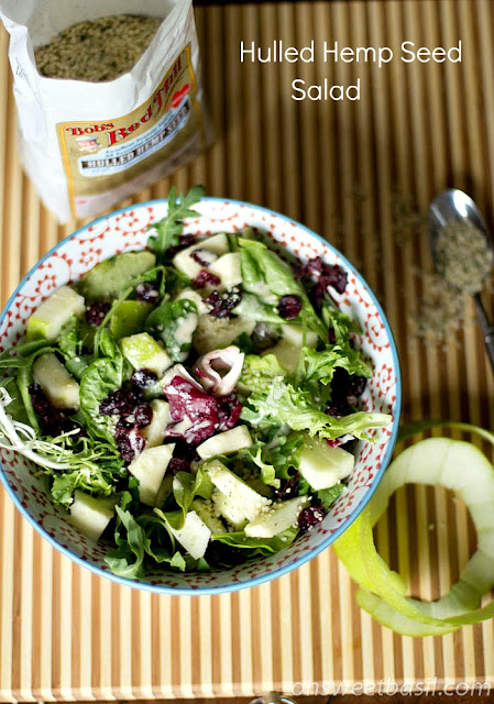 Hulled Hemp Seed Salad with Apple Dressing