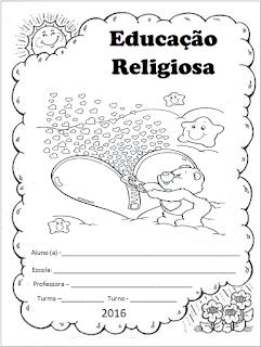 capinha de caderno educação religiosa