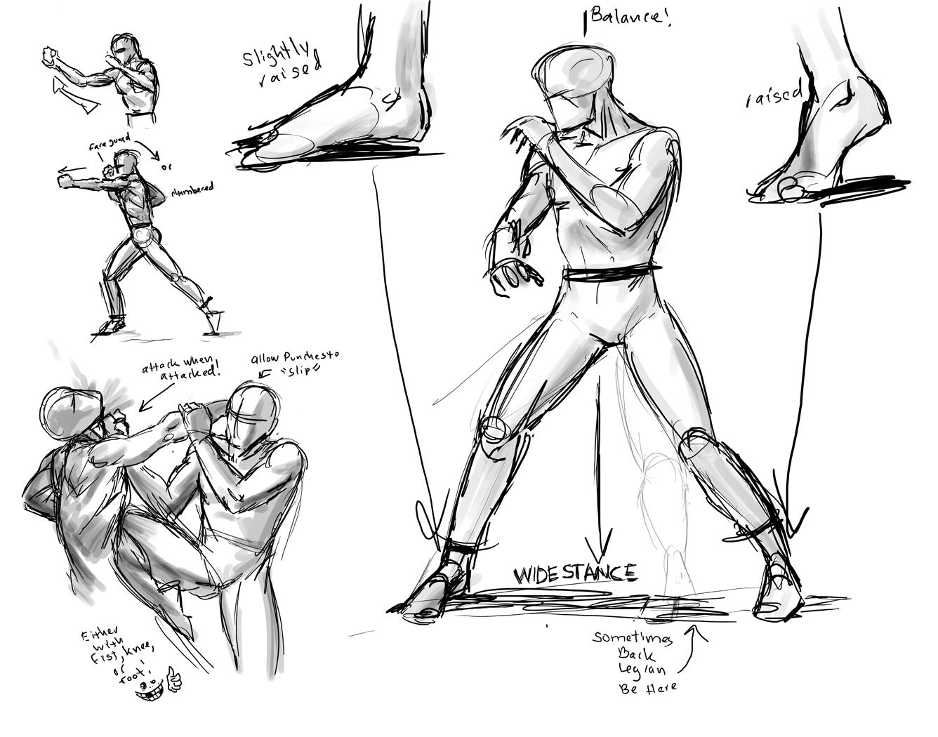 Basic Training Drawing Jeet_kune_do_explanantion_by