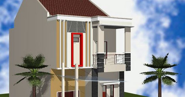 desain rumah tingkat minimalis type 36 architecture design