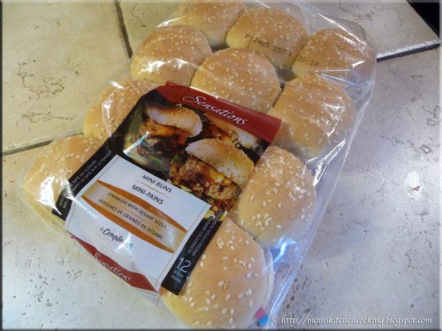 mini sesame seed burger buns