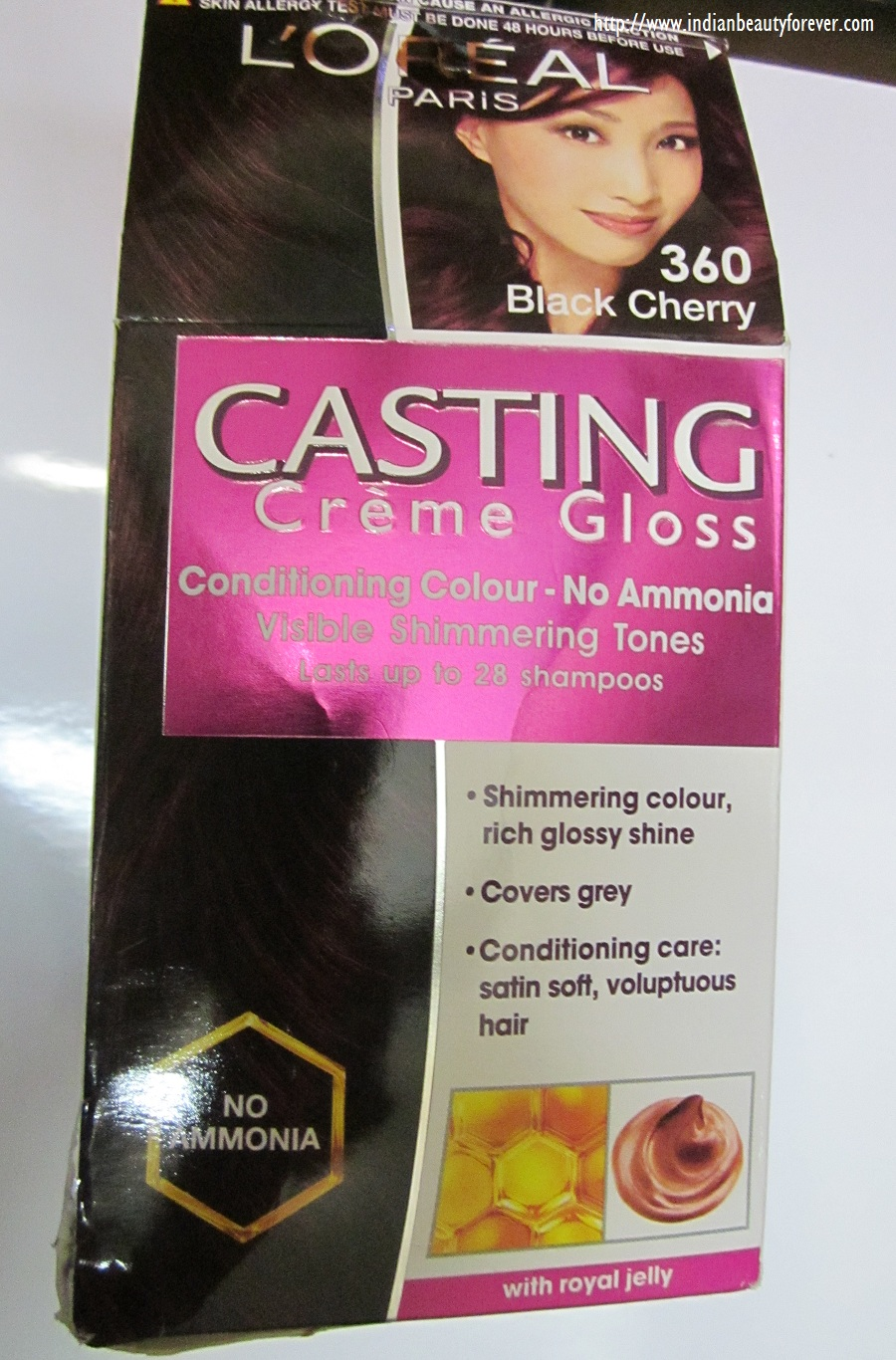 Loreal Paris Casting Creme Gloss In Black Cherry 360 Review And
