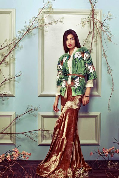 Sana Salman, eye-catching, designs, Winter Wear, Dresses.