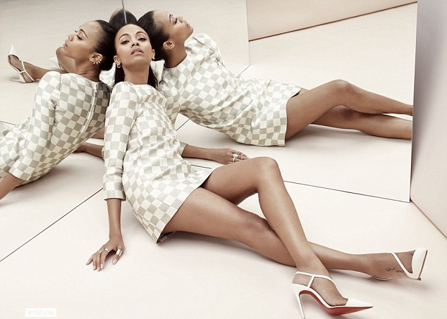 Actress Zoe Saldana Is Instyle Uk Magazine's June Cover Star!