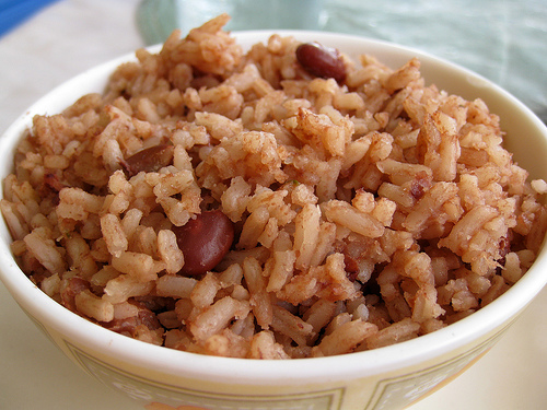 Jamaican cuisine practically revolves around rice and peas.