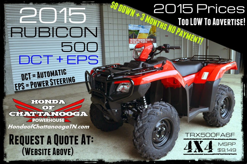 2015 TRX500FA6F Rubicon DCT EPS For Sale Chattanooga TN GA AL