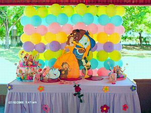 Kids Party Decoration Beauty and the Beast