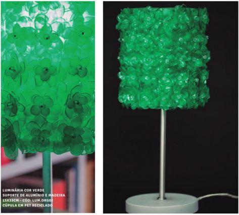 Coleção Luminós: Luminárias de garrafas pet