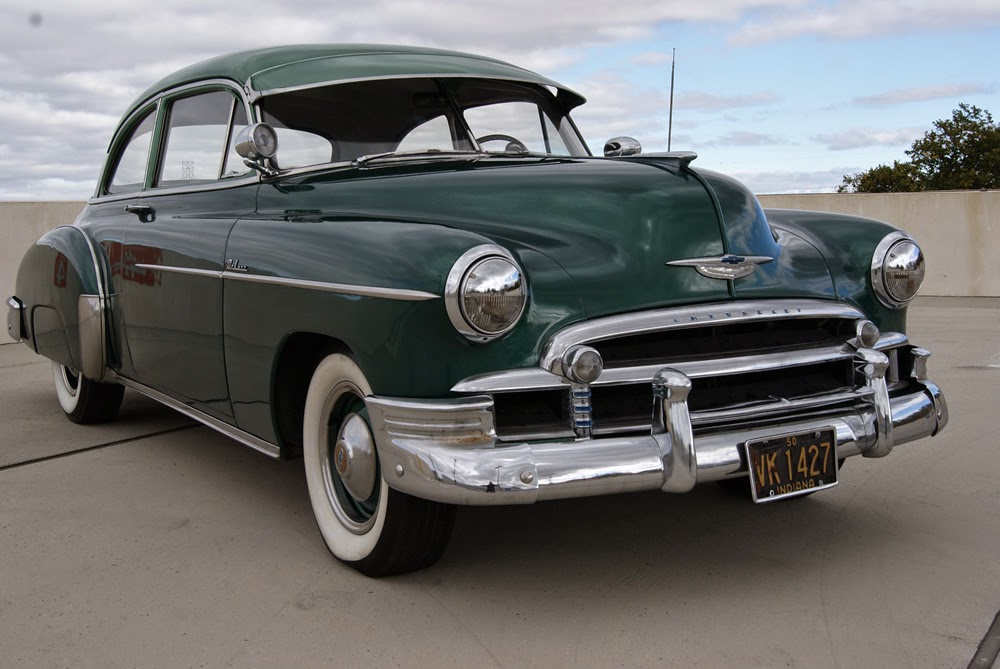 All american classic cars 1950 chevrolet deluxe styleline for 1950 chevy styleline deluxe 4 door sedan