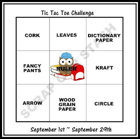 September Tic Tac Toe Stash Challenge