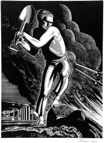 Rockwell Kent wood engraving