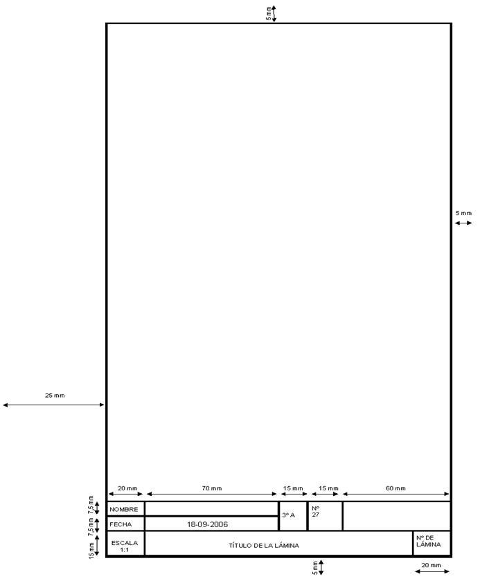 Tecnoportafolios formato de plantilla de dibujo t cnico for Plano de planta dibujo tecnico