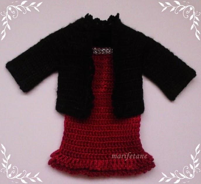 Tığ İşi Bebek Elbise Ve Ceket
