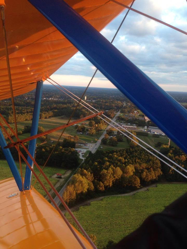 amazing-aerial-view-of-fuquay-north-carolina-from-private-plane-in-fall
