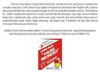 Lomba Blog Paling Indonesia dari Telkomsel