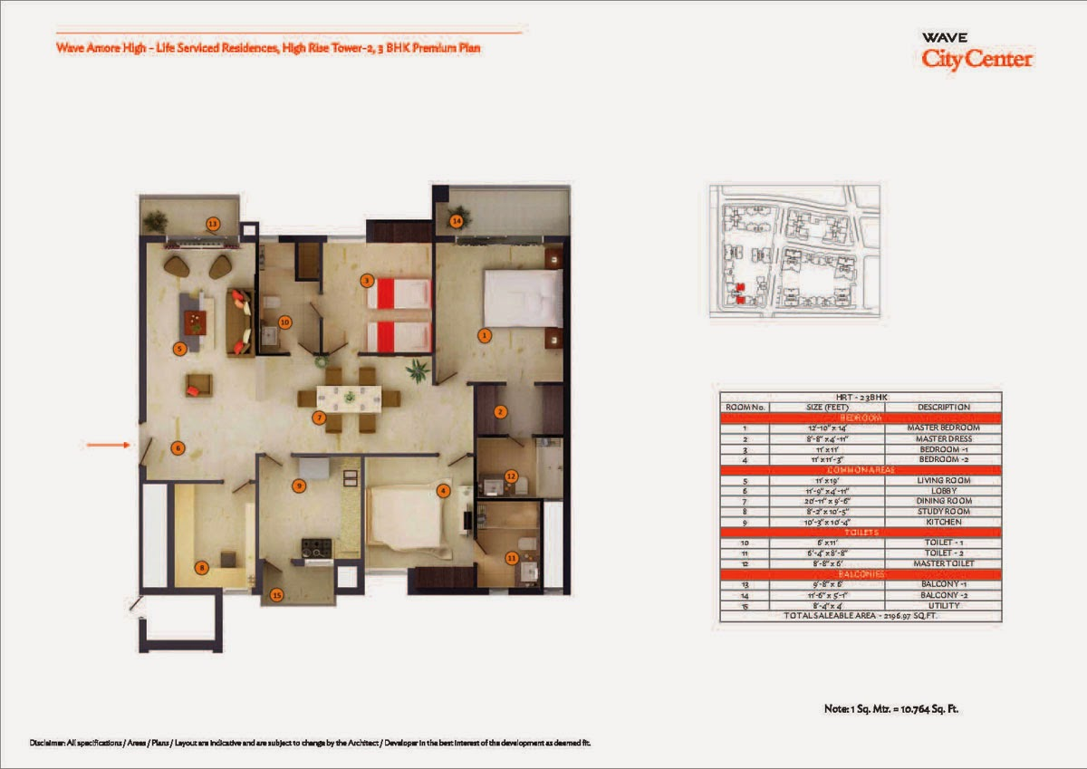 High Rise Tower 2,3 BHK Premium Plan
