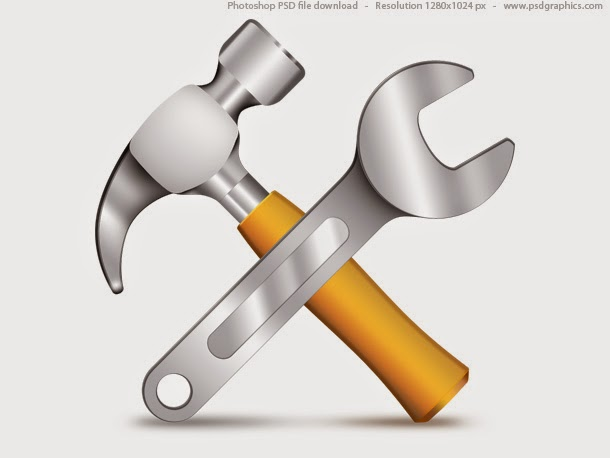 Hammer and Wrench Icon PSD