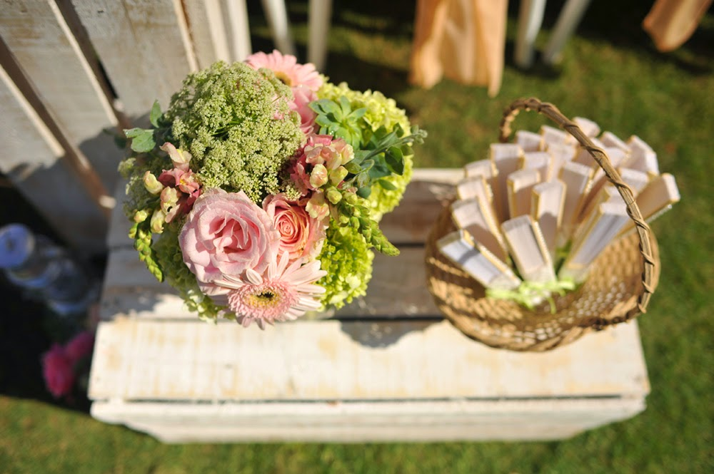 green hydrangeas, marmara gerberas, soft avalanche roses, pink snapdragpns, peach roses, succulents, momosa leaves
