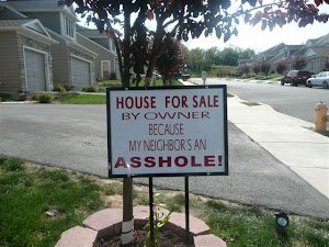 This sign was posted on Aberdeen Lane next to Pontious house