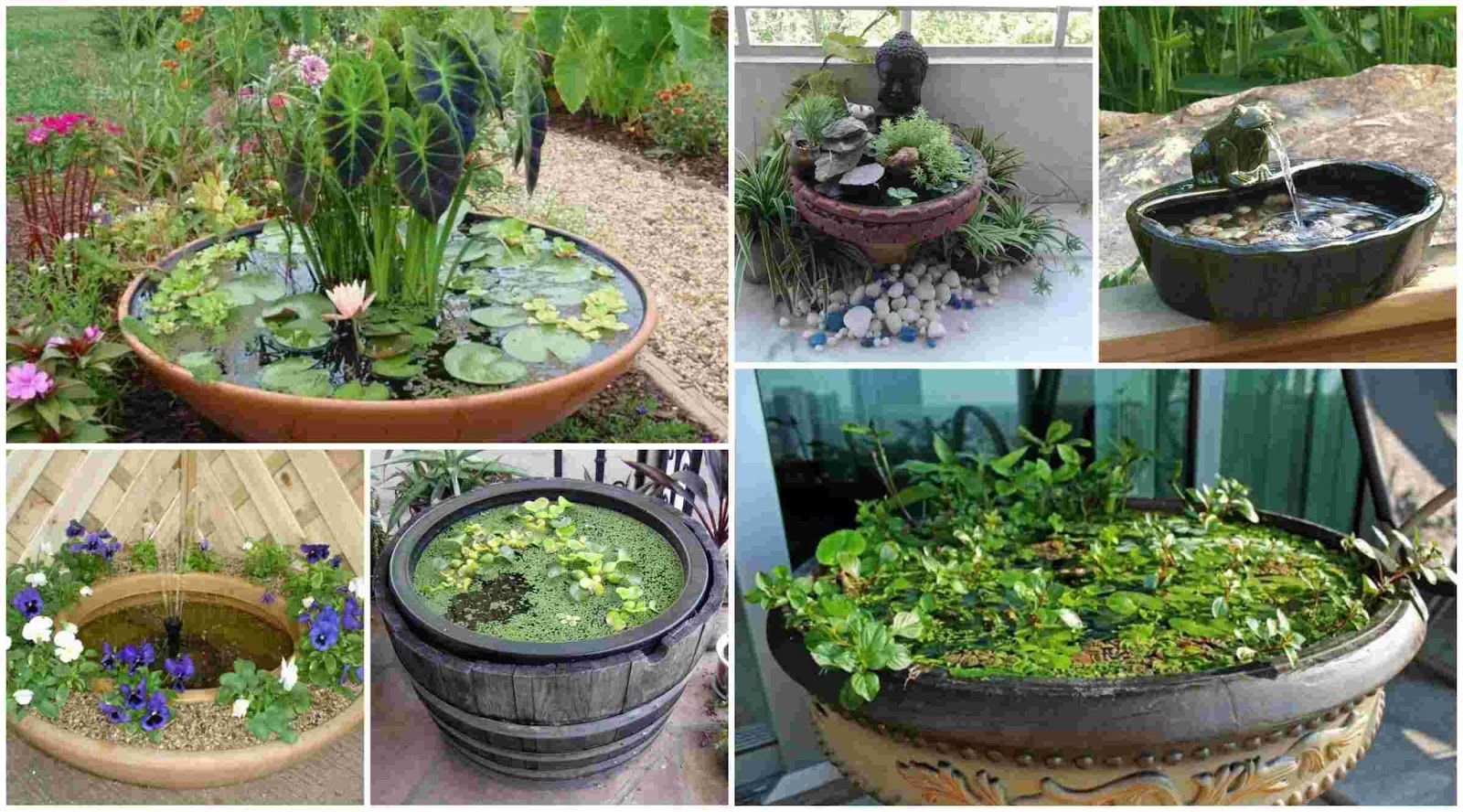 Mini pond for balcony 24 suggestions for design diy for Mini garden pool