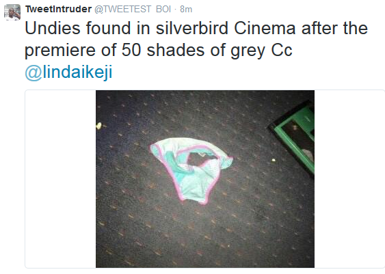 See what was found in Lagos cinema after 50 shades of grey movie