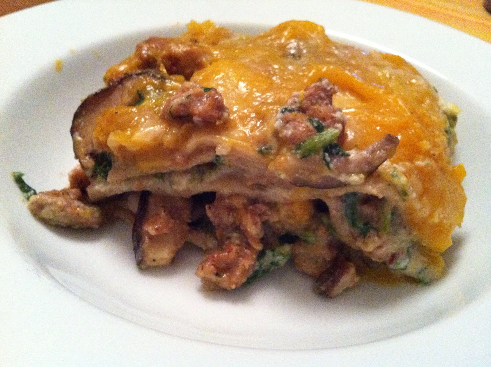 as good as bread: Butternut Squash Lasagna with Sausage, Mushrooms and ...