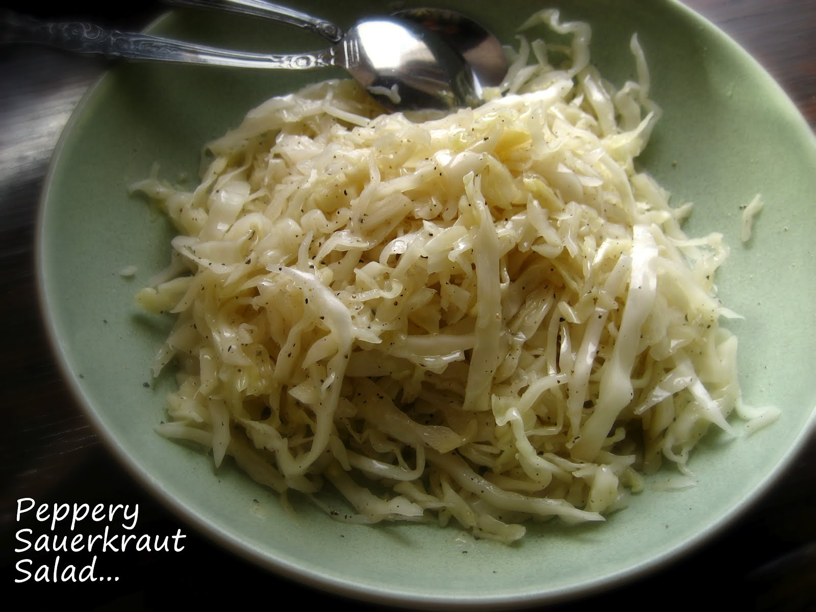 ... Whole/Half Head Cabbage) Sauerkraut... and a Peppery Sauerkraut Salad