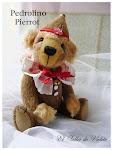 Teddy Bear  Pedrolino Pierrot en lana Mohair/Cashmete