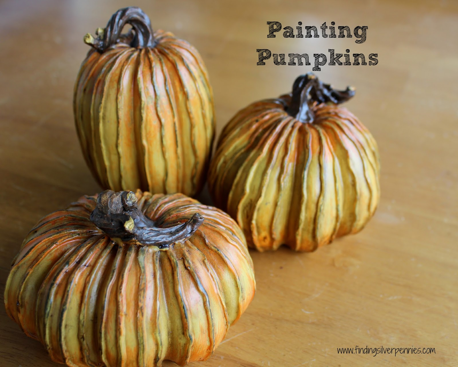 How to store pumpkins - Painting Dollar Store Pumpkins