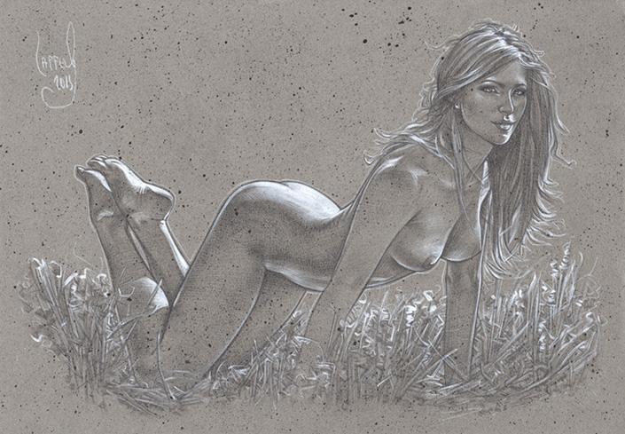 """'Allure' Nude Drawing © JEFF LAFFERTY 2015"""""""