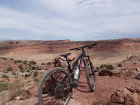 Klondike Bluffs Trails, Mega Steps / Alaska Intersection, Overlook of Arches National Park
