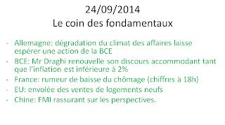 news et actualités économiques boursières 24/09/2014