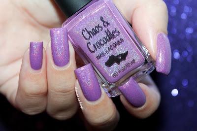 "Swatch of the nail polish ""Spun Sugar Magic"" from Chaos & Crocodiles"