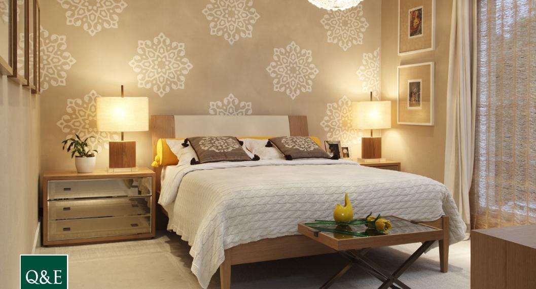 revistas de decoracao de interiores quartos:Quarto De Casal Com Papel Parede