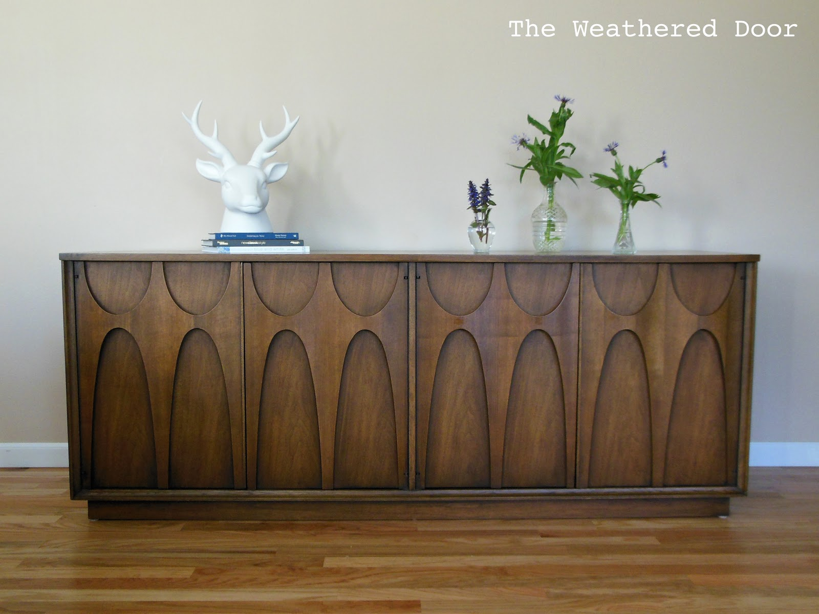 I Really See This Piece As A Console. Just Love The Front Of It! This  Credenza Also Has The Same Lines As These Mid Century Ikat Chairs I Just  Did.