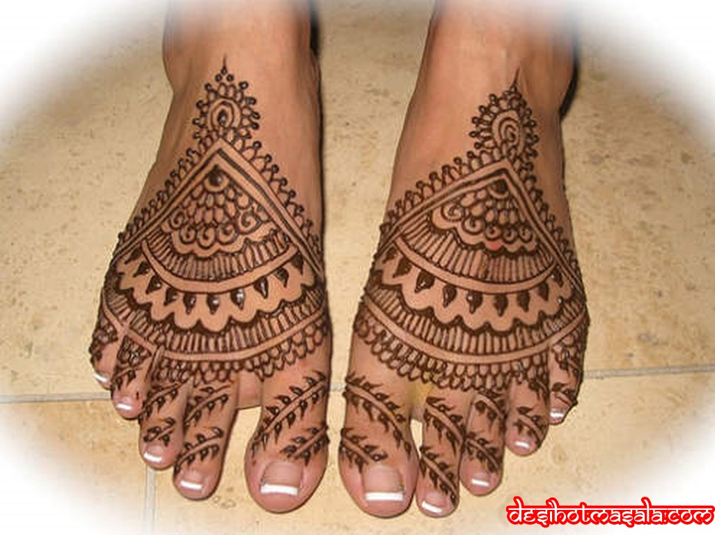 Bridal Foot Mehndi Designs Unforgettable Collection : Bridal mehndi designs for feet disigns