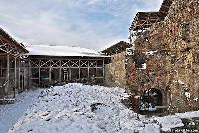 Ruinas de la ciudadela o fortaleza de Deva, Rumania