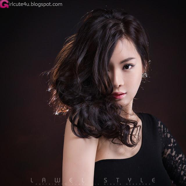 5 Im Ji Hye in Black-very cute asian girl-girlcute4u.blogspot.com