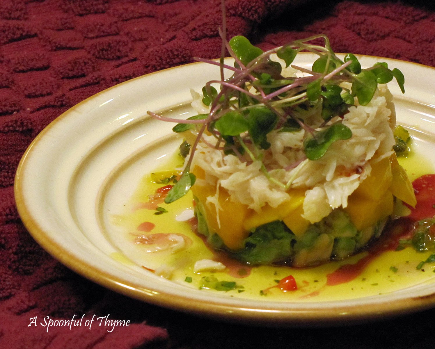 Crab, Avocado, Pomegranate Salad In Crisp Endive Leaves Recipes ...