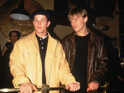 A very young Mark Wahlberg and Leonardo DiCaprio in happier times
