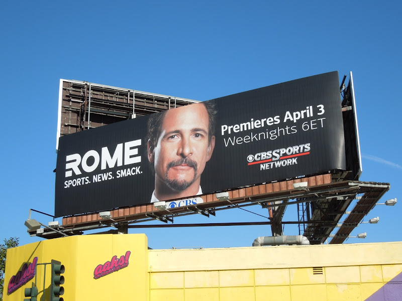Rome CBS Sports billboard