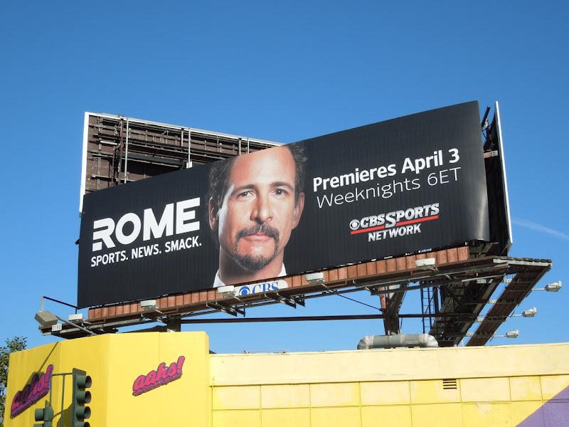 Rome CBS Sports billboard