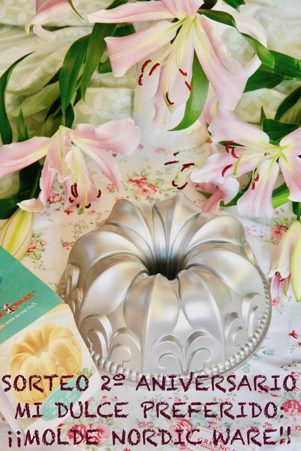 "Sorteo 2º aniversario blog ""Mi Dulce Preferido"""