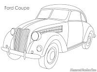 Gambar Mobil Ford Coupe Untuk Diwarnai