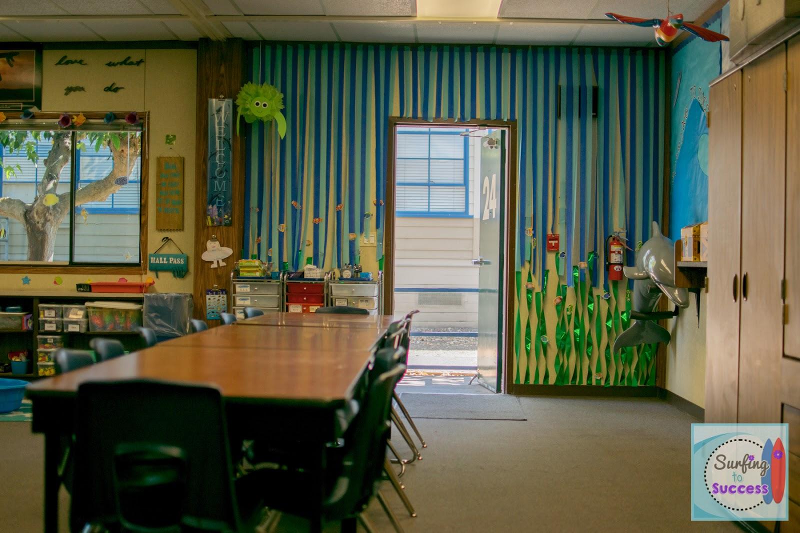 Ocean Classroom Decor : My ocean theme classroom surfing to success