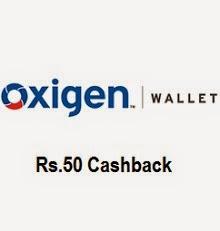 Oxigen Wallet Rs 50 cash back offer on Rs 100 mobile recharge and bill payment (New user)