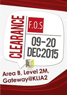 F.O.S Clearance Sale KLIA2